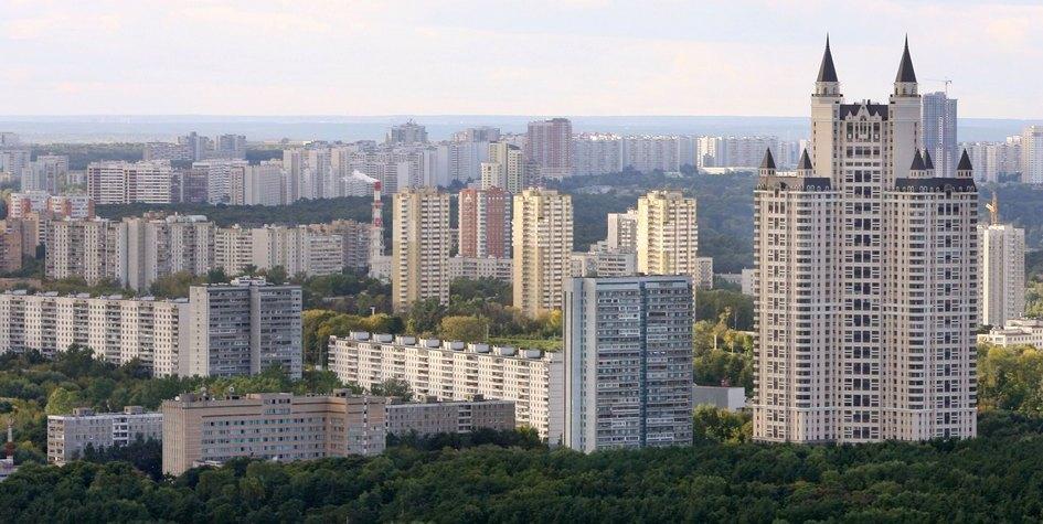 Вид на район Фили-Давыдково (ЗАО)
