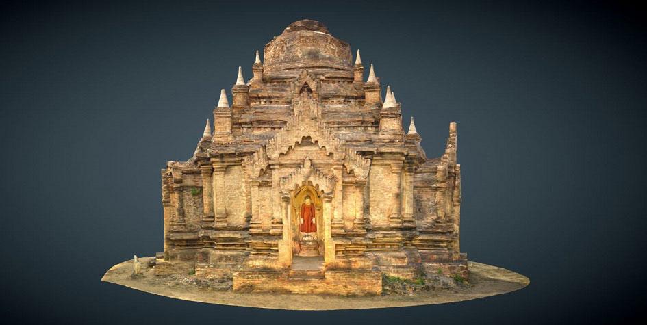 3D-модель древнего храма в Пагане