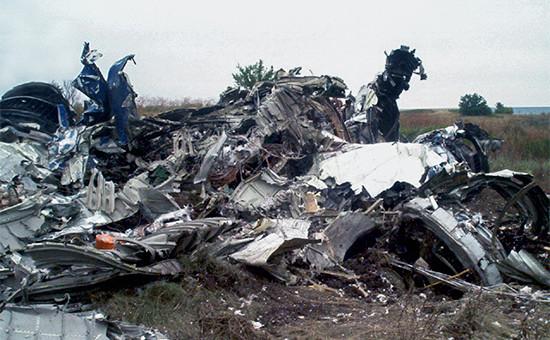 На месте падения самолета Ту-154 авиакомпании «Сибирь». 25 августа 2004 года