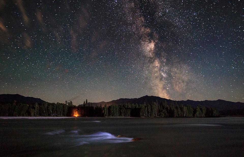 Звездное небо над Алтаем, Россия