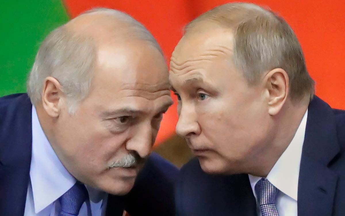 Александр Лукашенко иВладимир Путин