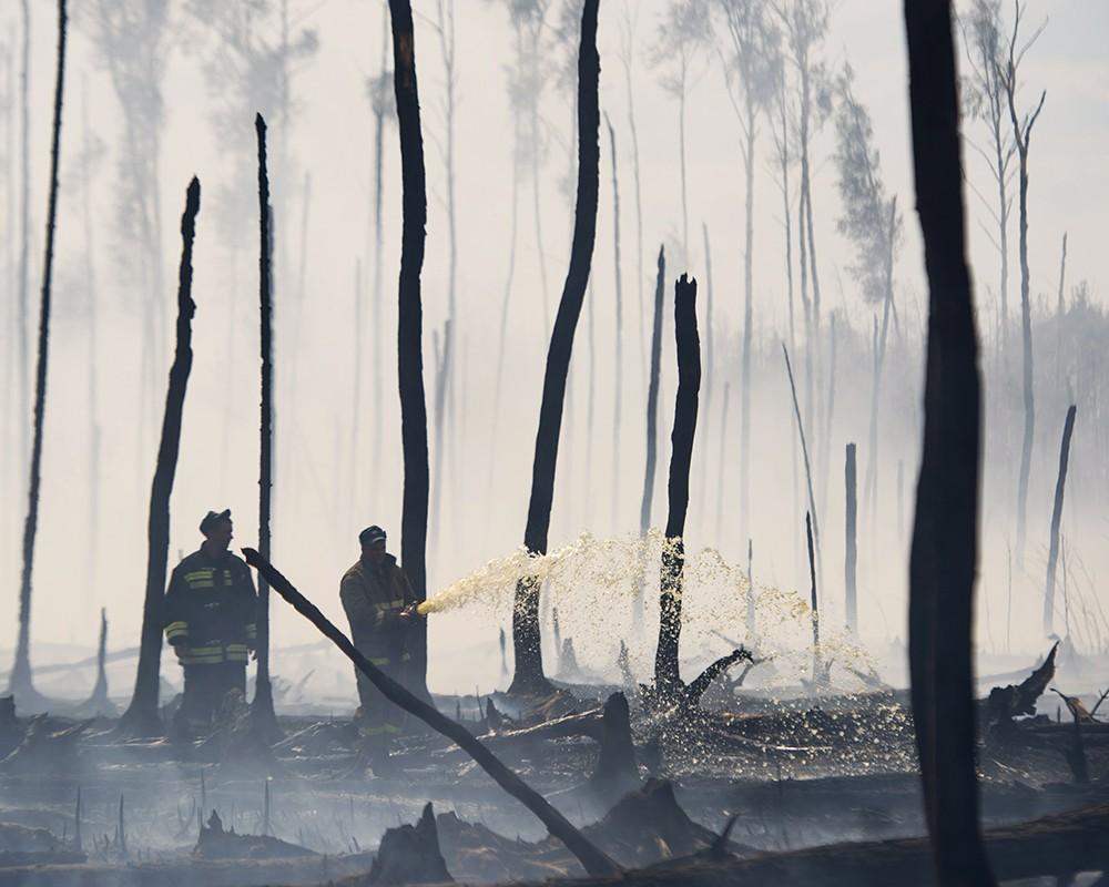 Тушение лесных пожаров в Тверской области