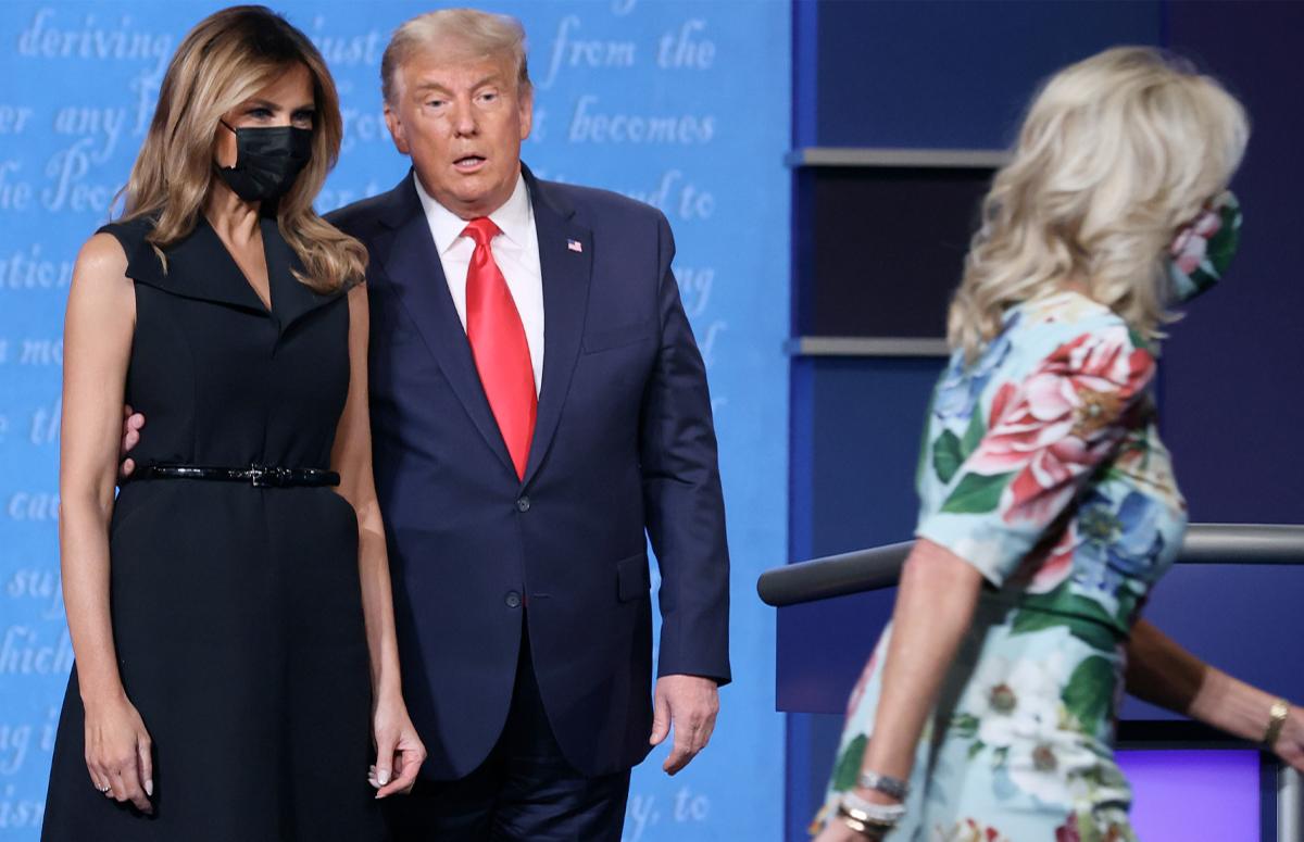 Мелания Трамп, Дональд Трамп и Джилл Байден