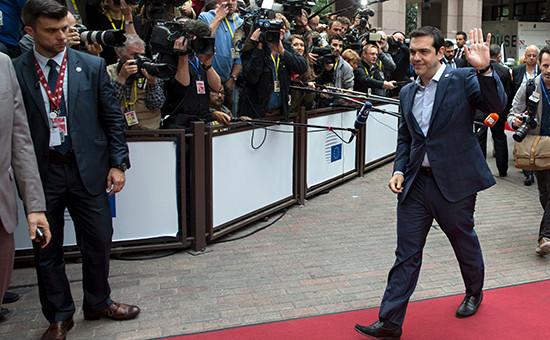 Премьер-министр Греции Алексис Ципрас на саммите в Брюсселе