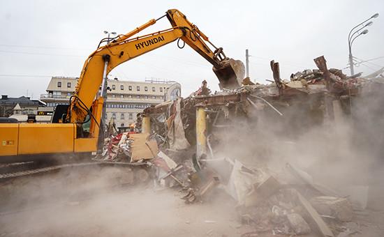 Снос торговых павильонов в Москве, февраль 2016 года