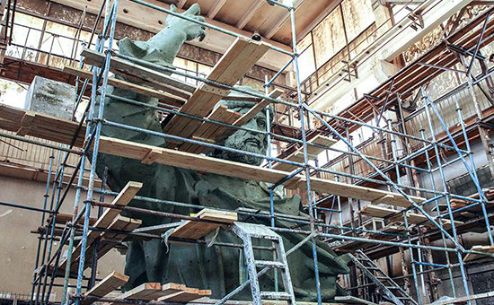 Модель памятника святому князю Владимиру, который планировалось установить на смотровой площадке на Воробьевых горах