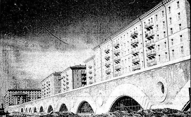 Фотография Москвы изотчета агента ЦРУ 1960 года