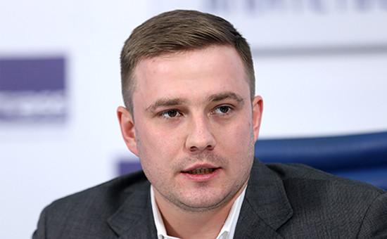 Глава «Молодой гвардии «Единой России» Денис Давыдов. Декабрь 2016 года