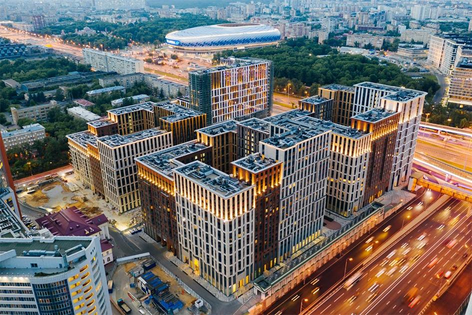 Вид на жилой комплекс «Царская площадь»