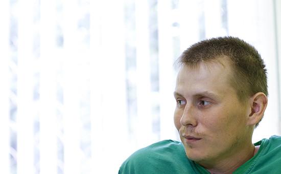 Захваченный украинскими силовиками россиянин Александр Александров