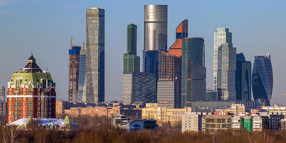 Вид на Московский международный деловой центр «Москва-Сити»