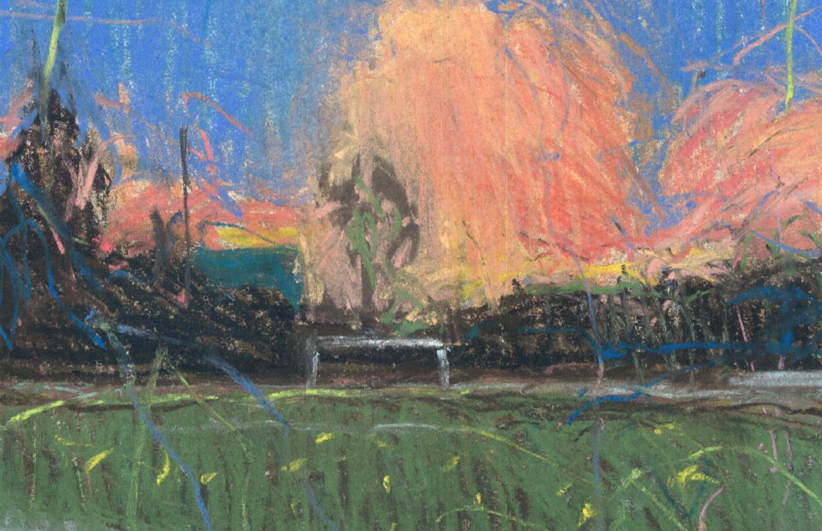 Работа художника Миши Никатина Summer Sky, онлайн-галерея «Объединение»