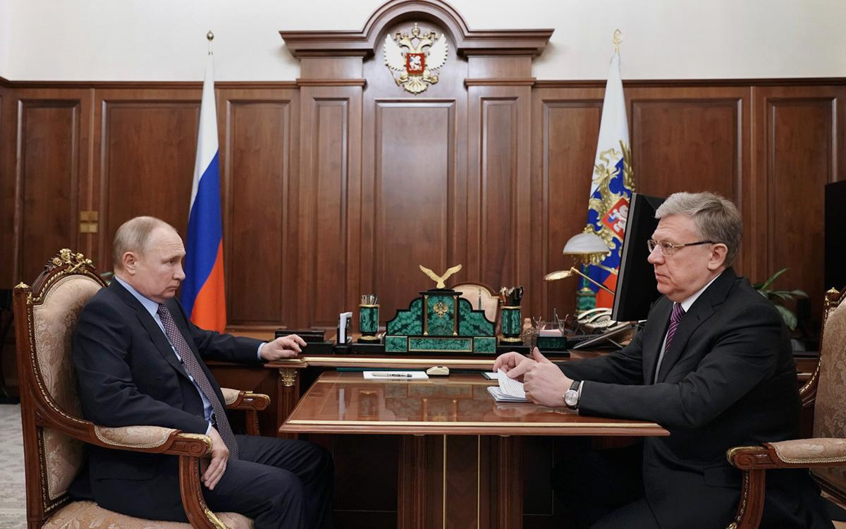 Владимир Путин и Алексей Кудрин