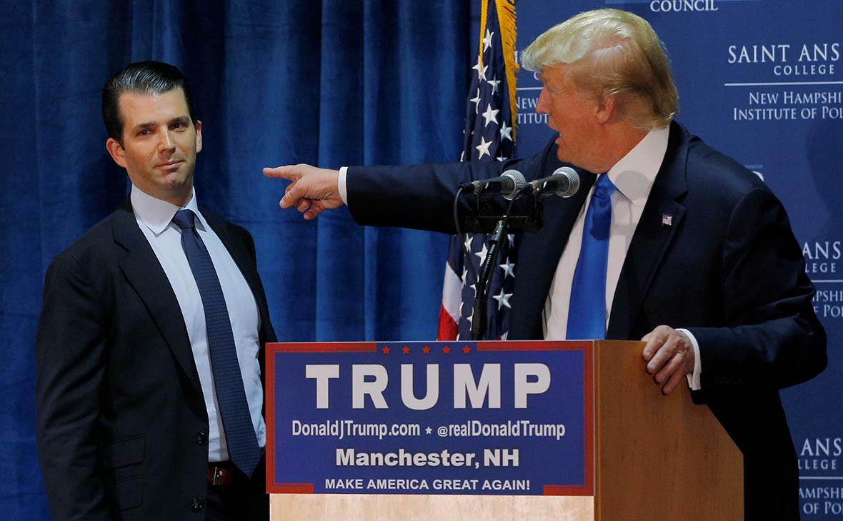 Дональд Трамп-младший и Дональд Трамп