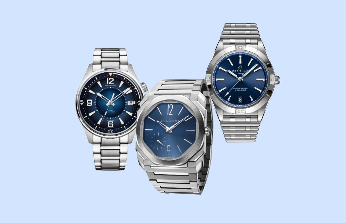 Часы Polaris Mariner Memovox, Jaeger-LeCoultre, Octo Roma, Bvlgari,Chronomat Automatic 36, Breitling