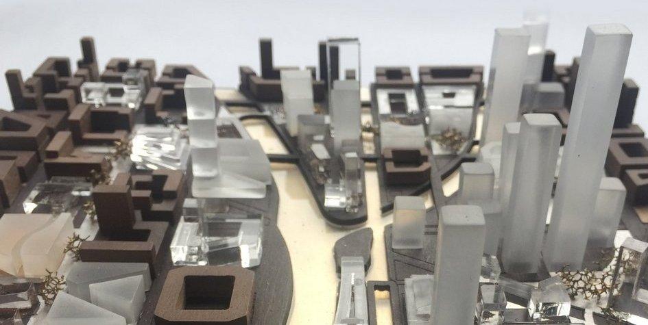 Макет «Идеального города» попроекту бюро Kleinewelt Architekten