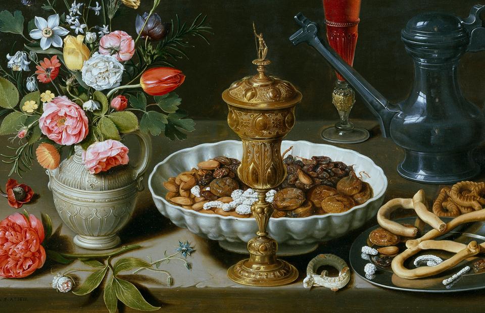 «Натюрморт с цветами и золотым бокалом», 1611, Прадо, Мадрид |Клара Петерс