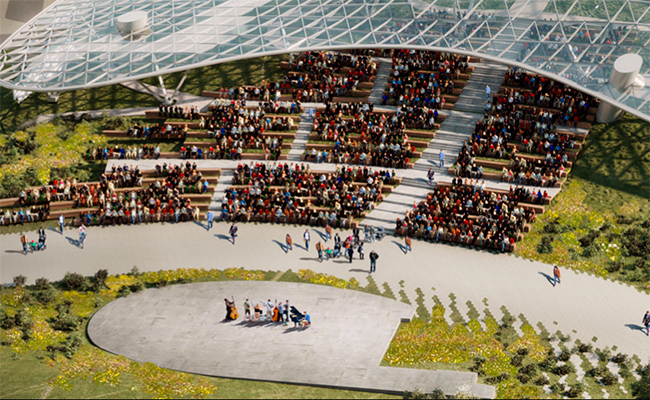 Проектное решение летнего амфитеатра в«Зарядье»