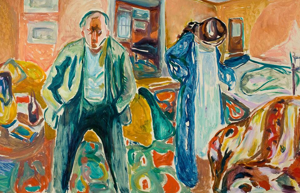 Эдвард Мунк. «Художник и его модель», 1919–21