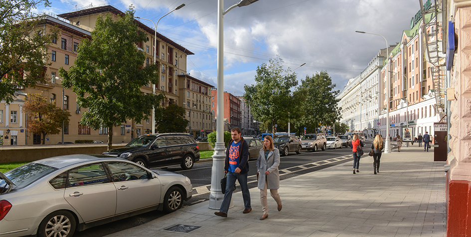 Никитский бульвар в Москве