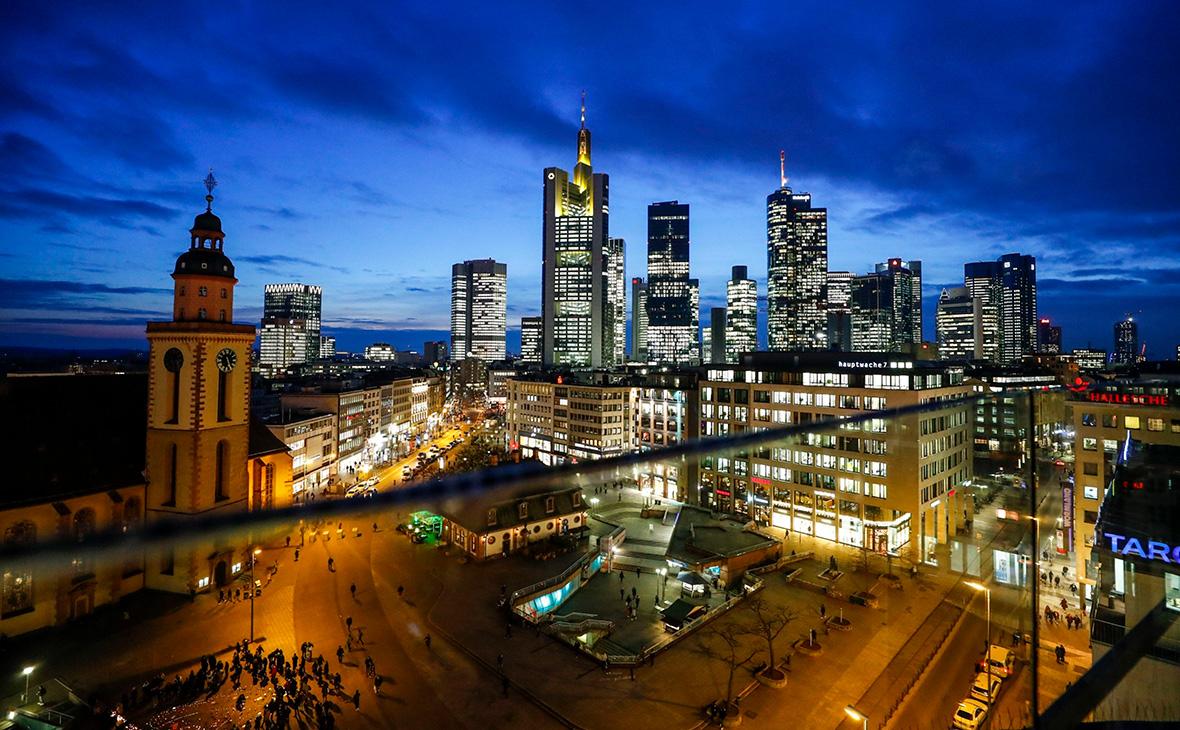 Вид на Франкфурт. Германия