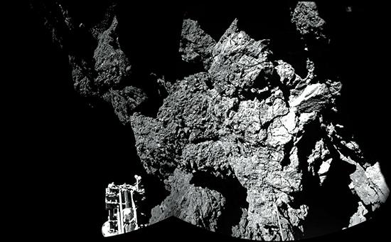 Поверхность  67Р (Чурюмова-Герасименко) видимая из посадочного модуля Philae