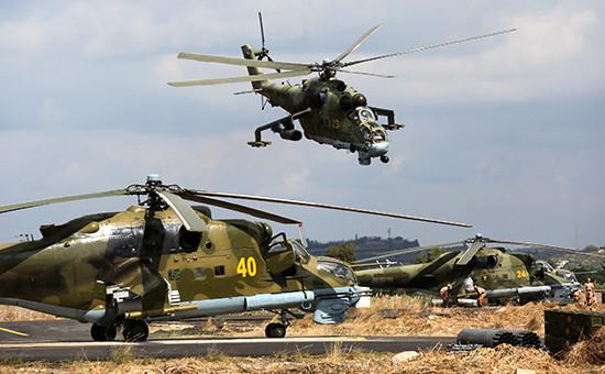 Вертолеты ВКС России в Сирии