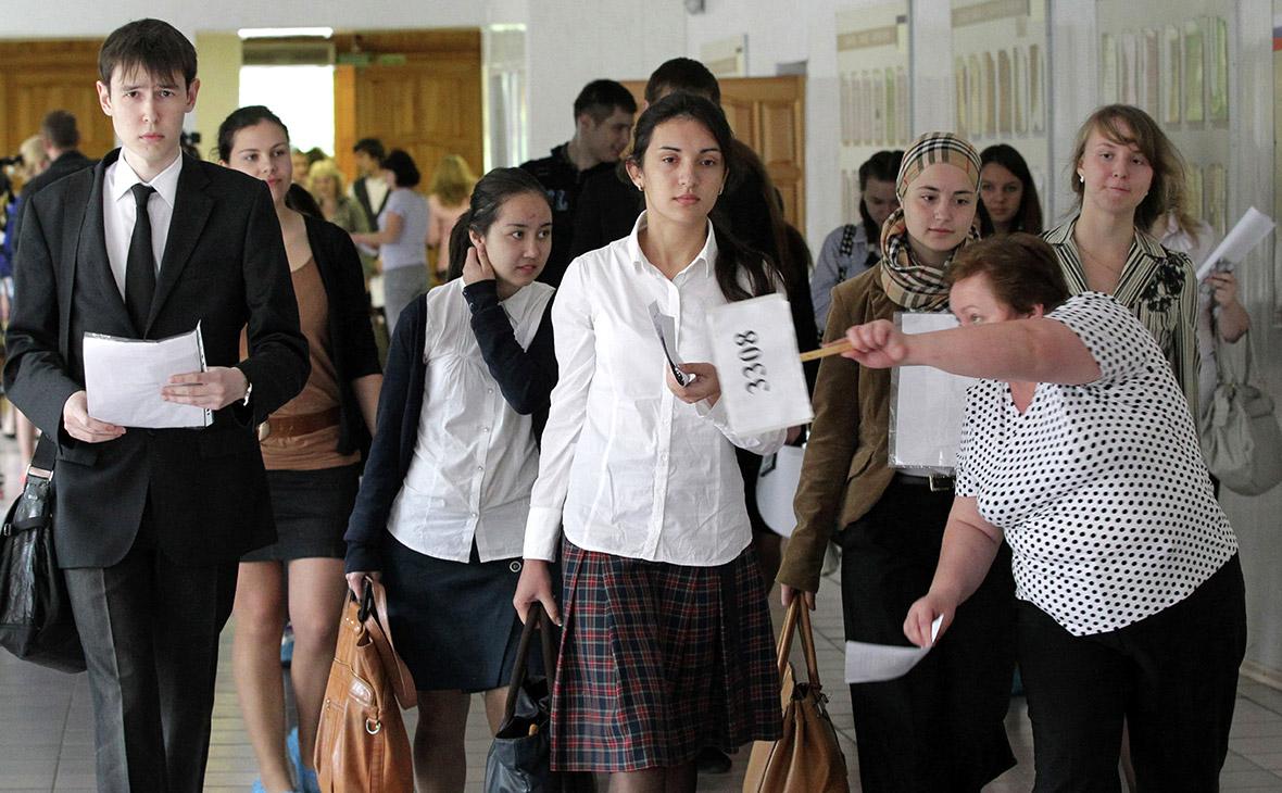 Ученики средней школы в Казани
