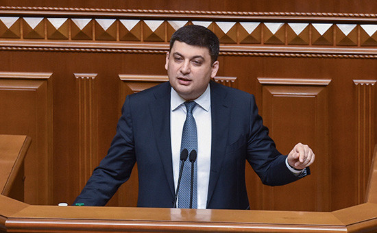 Владимир Гройсман во время заседания Верховной рады,14 апреля 2016 года