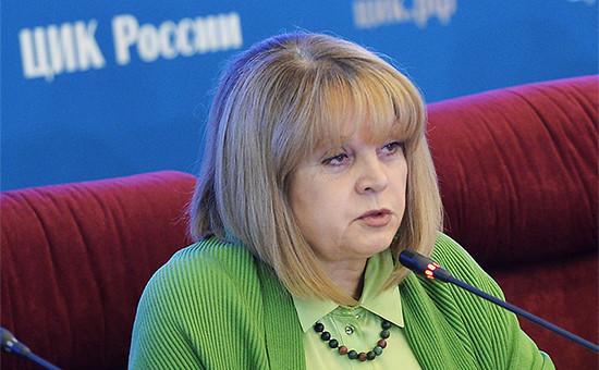 Глава Центризбиркома Элла Памфиловавыступает в ЦИК в единый день голосования