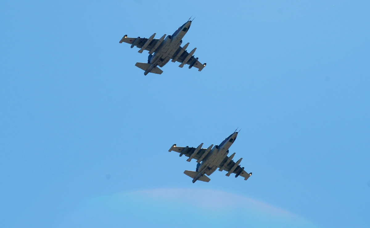 Российские штурмовики Су-25