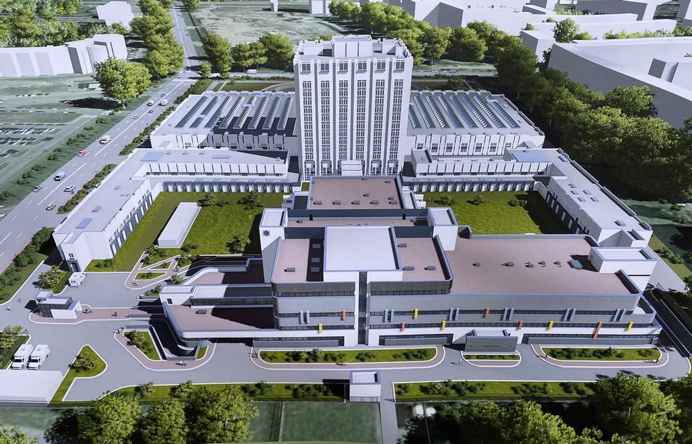 Эскиз второго корпуса НИИ имени Джанелидзе