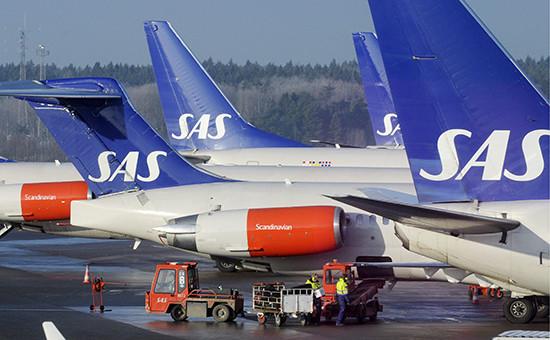 Лайнеры «Скандинавских авиалиний». Фото 2009 года