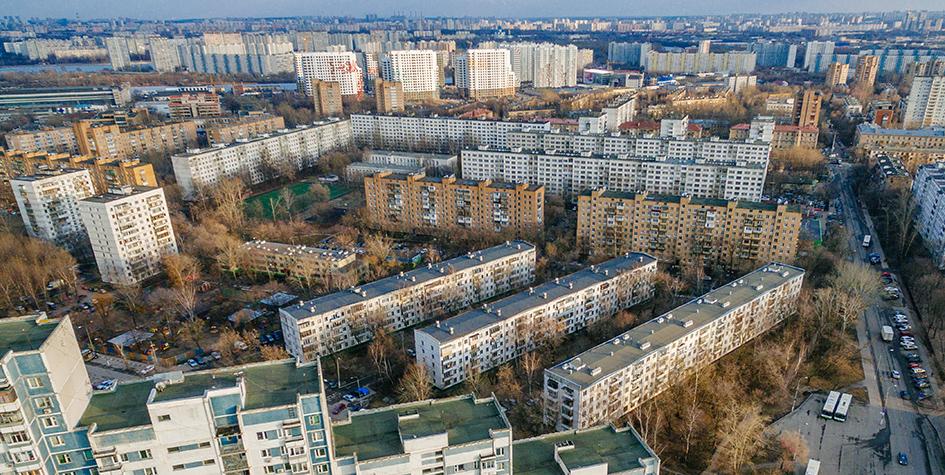 Вид на жилые дома 37-го района Печатников