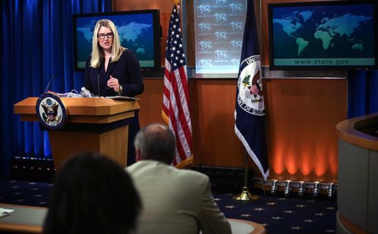 Официальный представитель Государственного департамента США Мэри Харф
