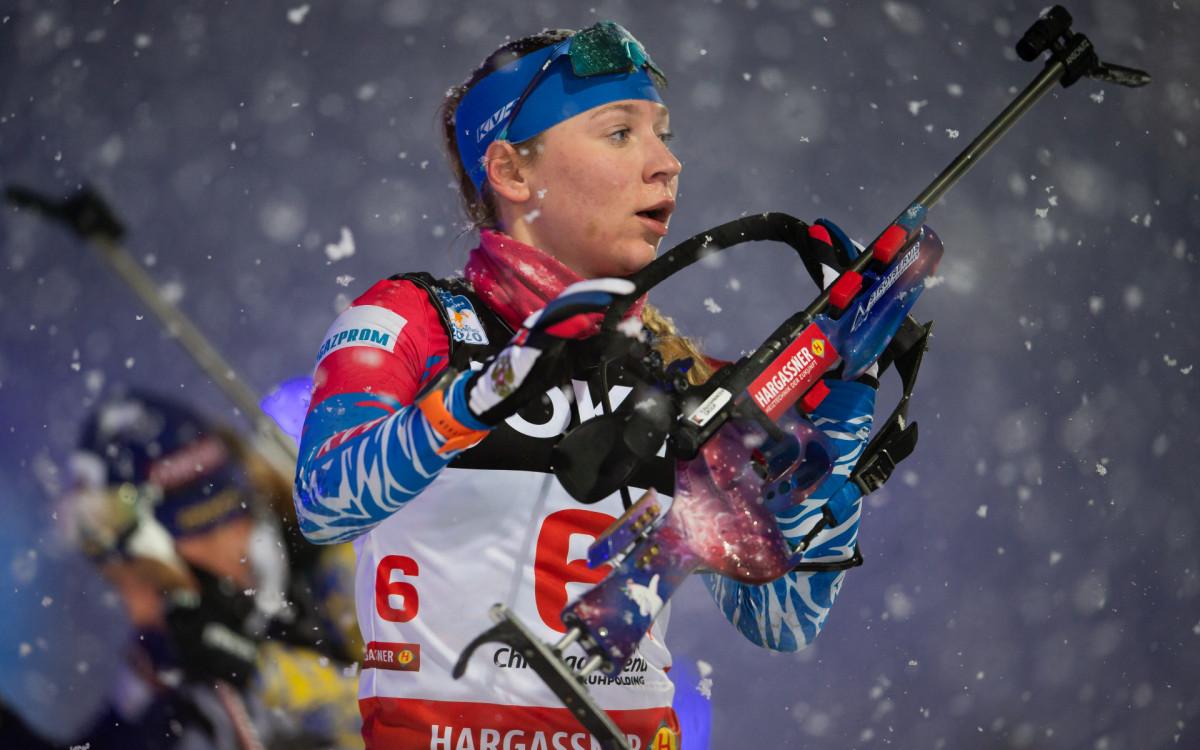 Биатлонистка сборной России Евгения Павлова