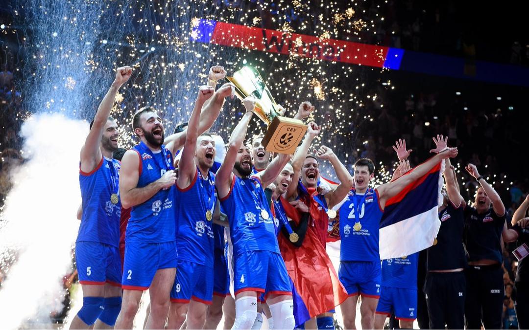 Сборная Сербии— действующий чемпион Европы по волейболу среди мужчин