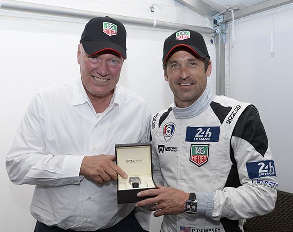 Жан-Клод Бивер (слева) и актер и гонщик Патрик Демпси (известный по сериалу «Анатомия страсти Грейс»)