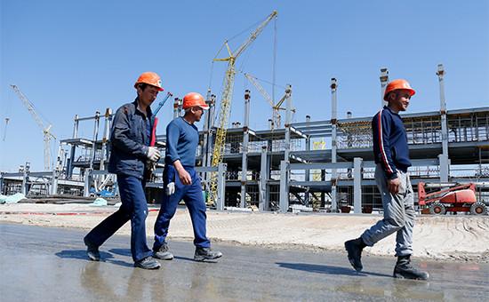 Строительство «Стадиона Калининград» дляпроведения матчей чемпионата мира пофутболу 2018 года