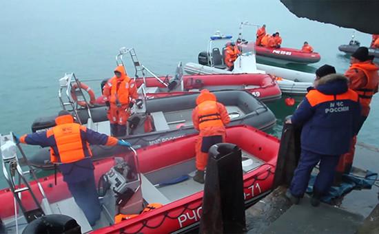 Поисково-спасательные работы в акватории Черного моря