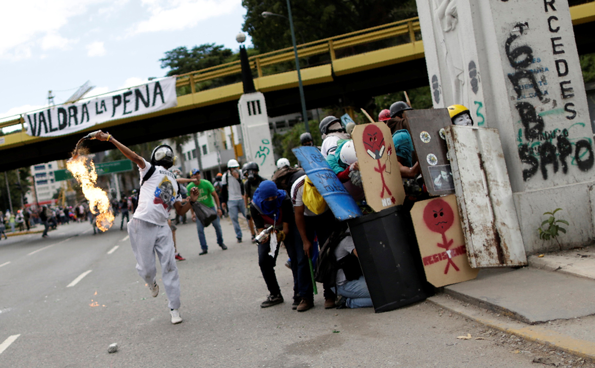 Акция протеста в Венесуэле. Июль 2017 года