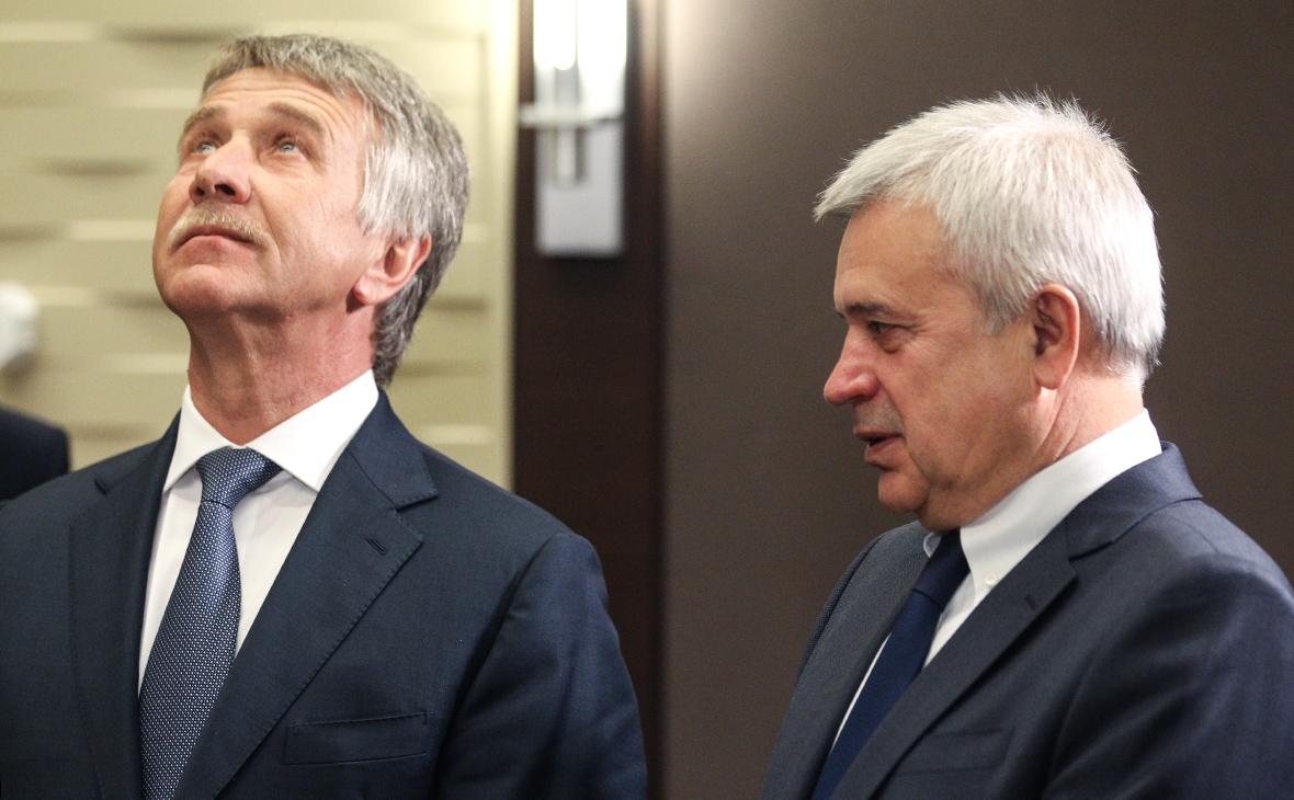 Леонид Михельсон (слева) и Вагит Алекперов