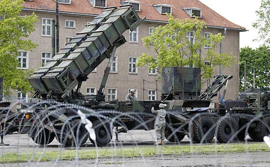 Американский ракетный комплекс ПВО Patriot на базе в Мораг, Польша (архивное фото)