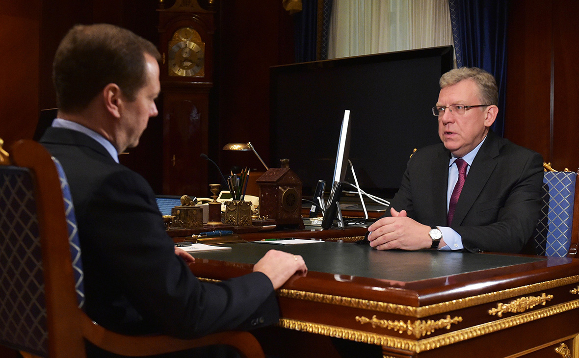 Дмитрий Медведев и Алексей Кудрин. 2016 год