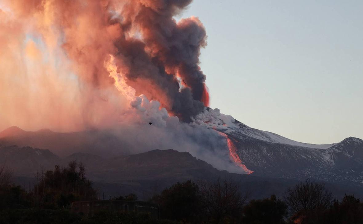 Извержение вулкана Этна