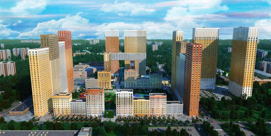 ЖК «Селигер Сити». Высота отдельных корпусов в этой новостройке превышает 127м