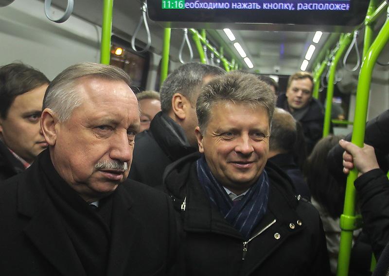 Губернатор Петербурга Александр Беглов и вице-губернатор Максим Соколов