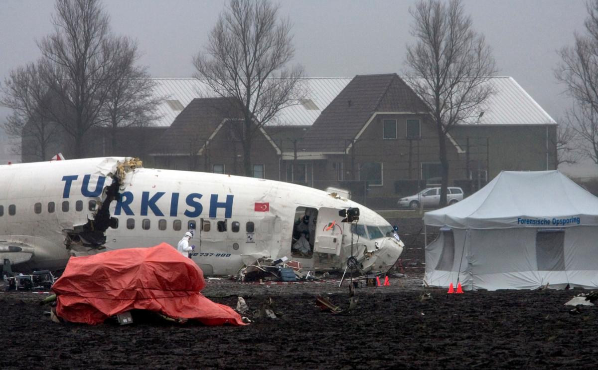 Самолет, потерпевший крушение под Амстердамом