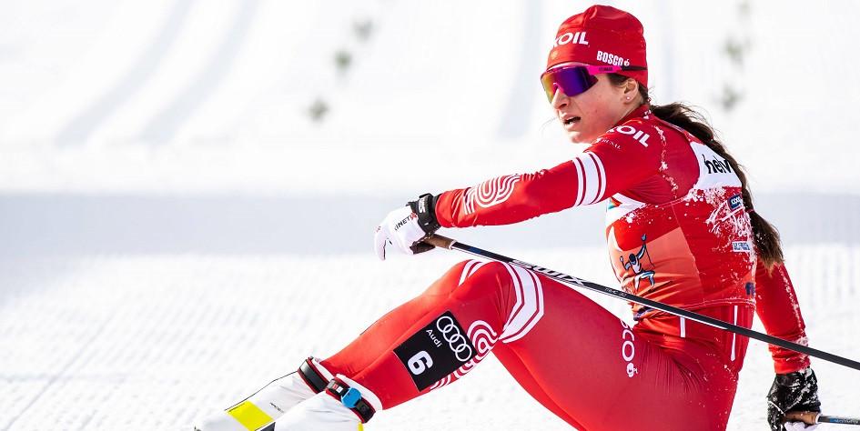 Лыжница сборной России Наталья Непряева