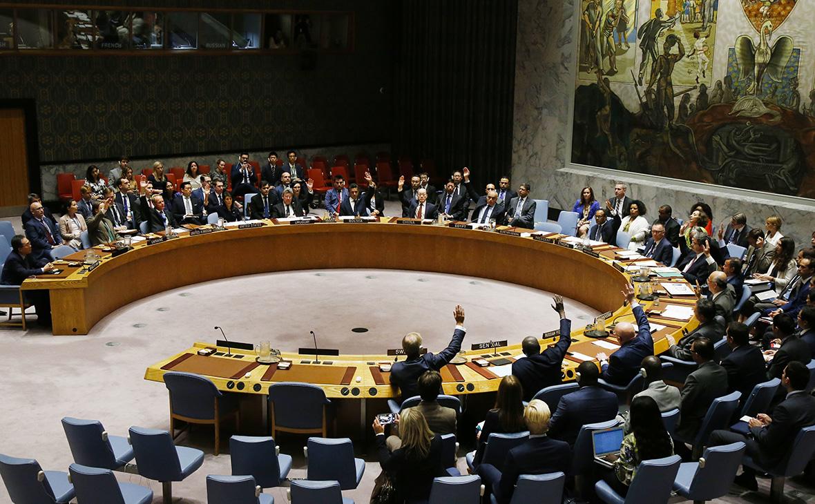 Голосование за принятиеновых санкций против КНДР в Совбезе ООН